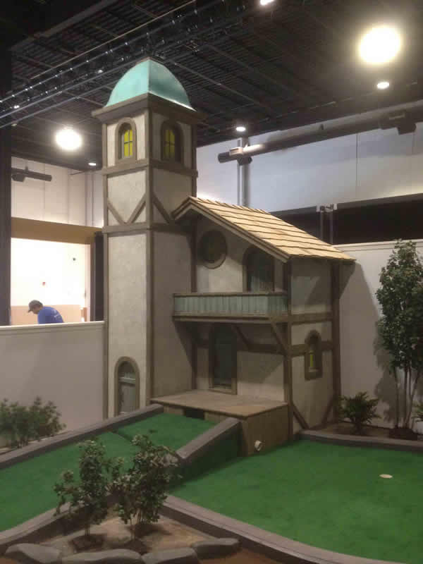 sceneworks themed clock tower mini-golf