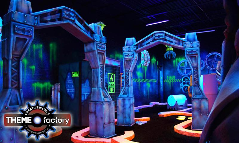 blacklight miniature golf theme by creative works
